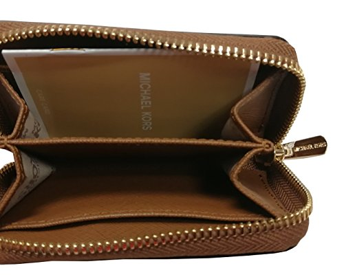 02c24d88c00e Michael Kors Jet Set Travel Zip Around Coin Case Leather Wallet Luggage by Michael  Kors (