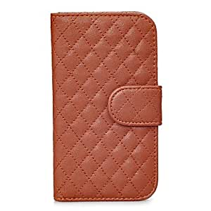 GJY PU leather flip case with card slot&stand for samsung galaxy S3 i9300 , Brown