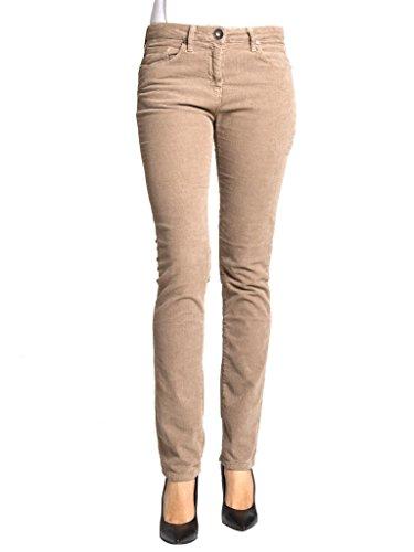 Carrera Jeans - Pantalon 752 pour femme, style droit, couleur unie, velours, taille normale, taille normale 172 - Beige