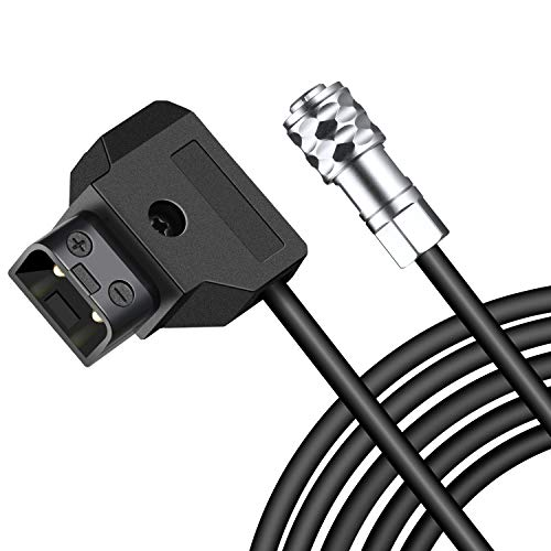 Koolertron 55 inch Length D-Tap to BMPCC 4K Power Cable for Blackmagic Pocket Cinema Camera 4K BMPCC 4K and Gold Mount V Mount Battery ()