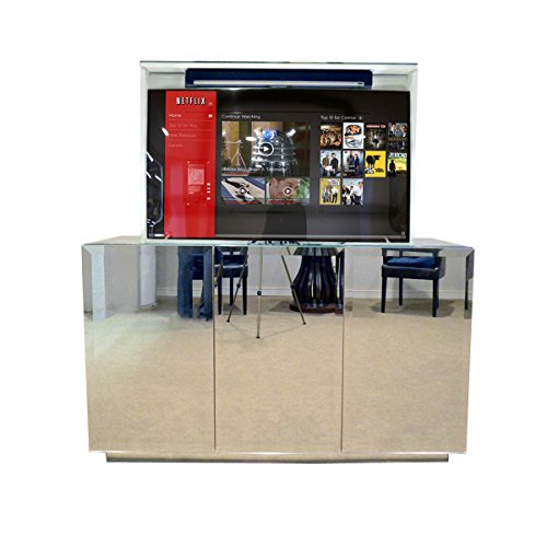 Pop Up TV Lift - Handcrafted Beveled Mirror TV Lift Cabinet - ATL System (55'' or Smaller TV Capacity) by American TV Lift