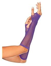 Leg Avenue womens Triangle Net Fingerless Gloves Exotic Apparel Accessory