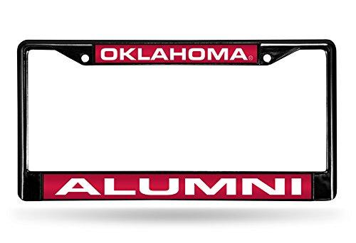 Rico Industries NCAA Oklahoma Sooners Alumni Laser Cut Inlaid Standard Chrome License Plate Frame