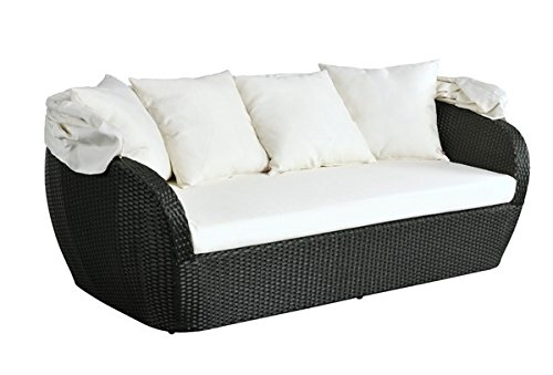 rattan couch sunny sonneninsel rattan schwarz g nstig. Black Bedroom Furniture Sets. Home Design Ideas