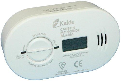 Kidde 0230BSI Akku Premium Range Kohlenmonoxid Alarm mit Digital Display