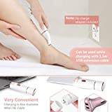 YOHOOLYO Women Hair Remover Facial Hair Removal for Women 4 in 1 Waterproof Including Eyebrow Razor Nose Trimmer Facial Shaver Body Shaver USB Charging