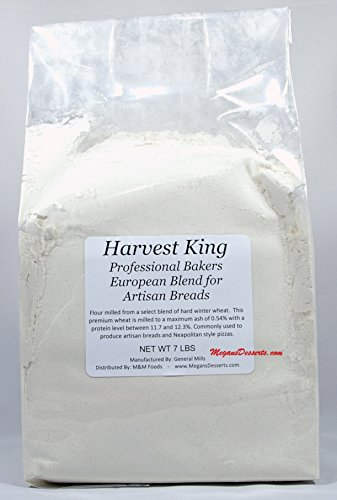 General Mills Harvest King European Artisan Bread Flour, Enriched Unbleached - 7 lbs REPACK