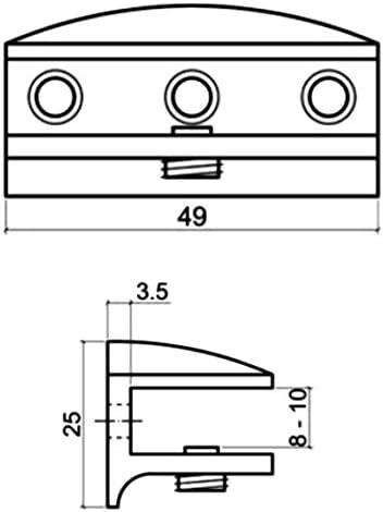 TAPPI di velocità in metallo fissaggi a parete della matrice