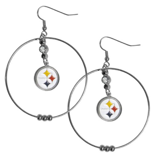 NFL Pittsburgh Steelers Hoop Earrings, 2-Inch