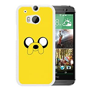 Beautiful Designed Cover Case For HTC ONE M8 With Adventure Time 2 White Phone Case