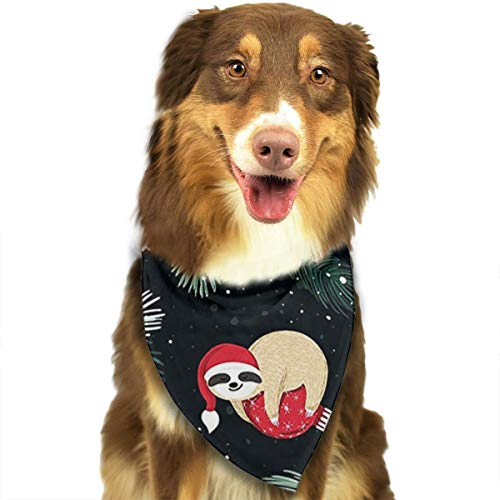 JJHDF Dog Bandanas Dogs Scarfs Christmas Sloths