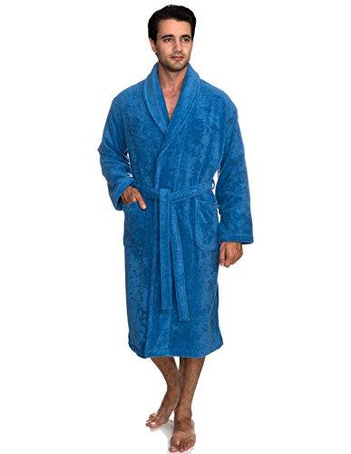 s Robe, Organic Cotton Terry Shawl Bathrobe Medium/Large Campanula ()