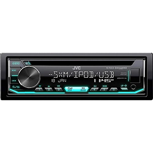 JVC KD-R690S CD Receiver Featuring Front USB/AUX Input/Pandora/SiriusXM Ready/Variable Illumination (Face Stereo Jvc Detachable Car)