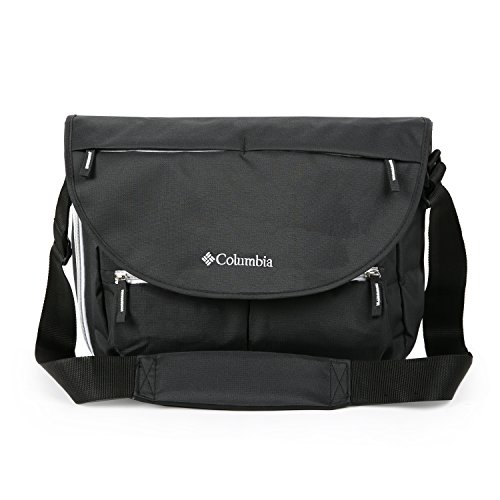 (Columbia Outfitter Messenger Diaper Bag, Black)
