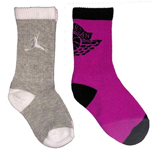 Kids Jordan 2-Pack High Crew Socks 10C-3Y (5-7 Sock Size) (Jordan Shoes Multicolored)