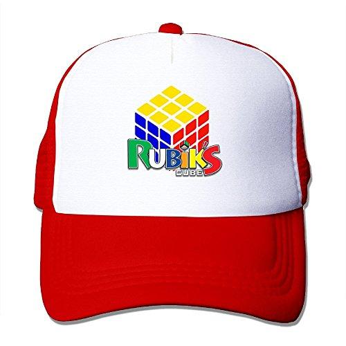 CYSKA Adult Casual Hats Caps Rubik's Cube Basketball Caps Hat Red Reynolds Casuals Set