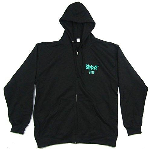 Slipknot World Tour 2016 Black Zip Up Sweatshirt (XL)]()