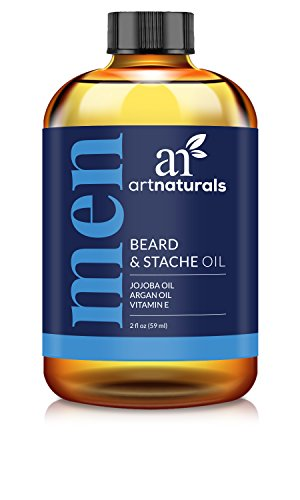 Price comparison product image ArtNaturals Organic Beard Oil and Conditioner - 100% Pure and Natural Unscented - for Groomed Beard Growth, Mustache, Face and Skin - Softens Your Beard, Stops Itching and Treats Acne, 2 oz.