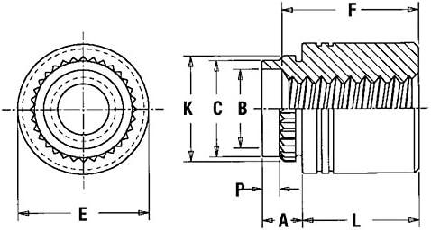 Unified Type KFB3 Pem Broach//Flare-Mount Standoffs KFB3-632-24ET