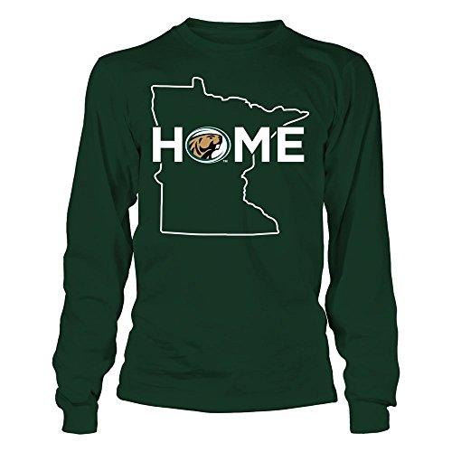 FanPrint Bemidji State Beavers T-Shirt - Home - Longsleeve Tee/Forest Green/S