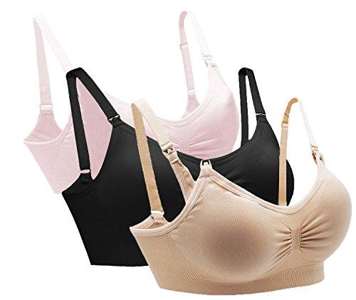 AKAMC Womens Full Bust Seamless Nursing Maternity Bras Bralette S-XL