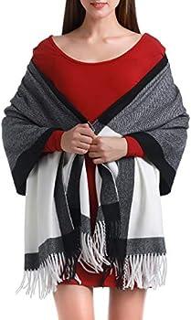 Heboto Plaid Cashmere Pashmina Fashion Scarf Shawl for Women