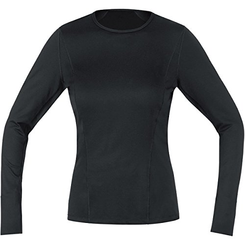 Bike Fitted T-shirt (GORE BIKE WEAR Women's Base Layer Lady Thermo Long Shirt, Small, Black)