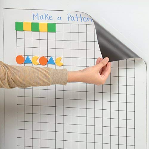(Constructive Playthings Write and Wipe Magnetic Graphing Chart for Classroom, Home, or Office)