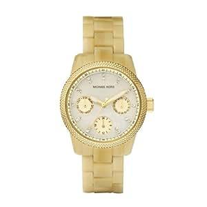 Michael Kors Quartz Mother of Pearl Dial Horn Band - Women's Watch MK5400