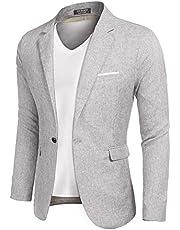 MAXMODA Herenblazer, linnenstructuur, slim fit, moderne vrijetijdsblazer, lichte jas