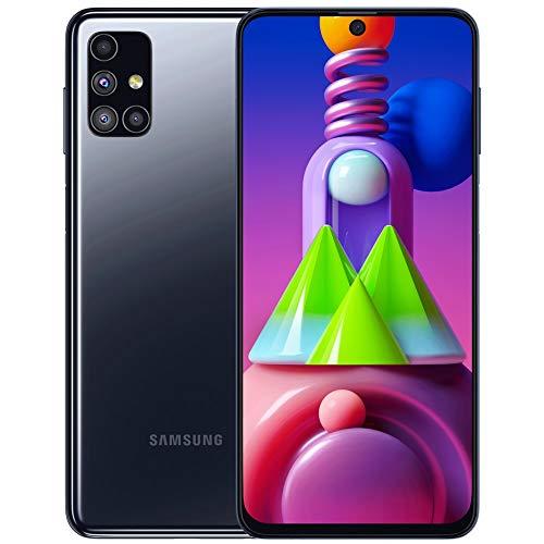 Samsung Galaxy M51 (128GB, 6GB) 6.7″ FHD+, 64MP Quad Camera, Dual SIM GSM Unlocked Global 4G VoLTE (T-Mobile, AT&T, Metro) International Model M515F/DSN (64GB SD Bundle, Black) (Renewed)