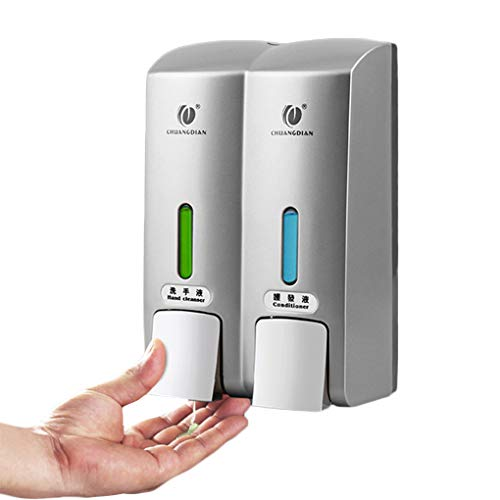 Amazon.com: Onepeak CHUANGDIAN Manual Double Heads nToilet Shower Room Wall Mount Pump Lotion Sanitizer Liquid Soap Container Dispenser Shampoo Box: Home & ...