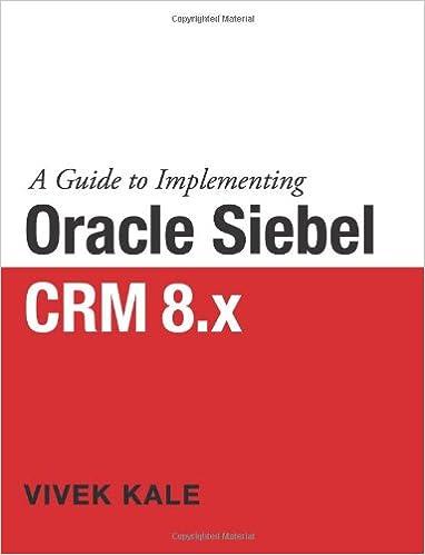 Ebook siebel download crm free