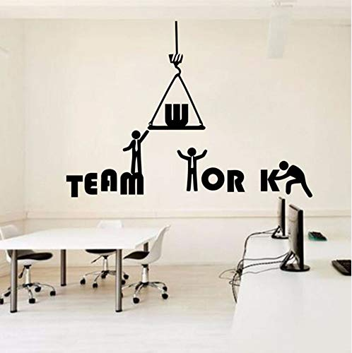 Dalxsh Office Quote Wall Decal Idea Teamwork Business Worker Inspire Office Decoration Motivation Stickers Mural Unique Gift 59x42cm ()