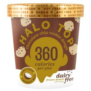 Halo Top Dairy Free Chocolate Chip Cookie Dough Pint 8 Count