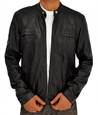Superhero Costume Real Leather Jacket Collection (XS, 17 Again Black)