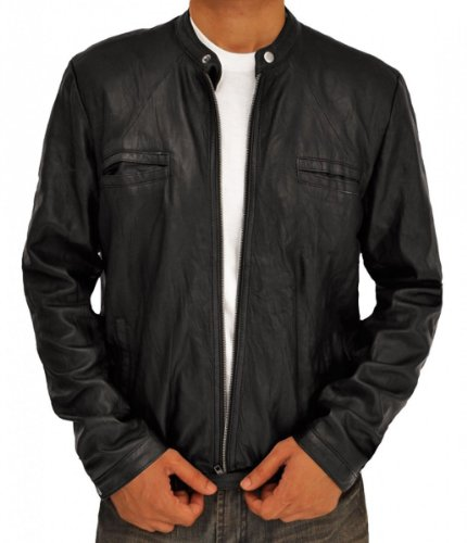 Superhero Costume Real Leather Jacket Collection (S, 17 Again Black)