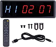 Interval Timer, LED Timer Clock 24/12 Hour Display Wide Uses Two Fitness Alternate Timing H1/H2 Respectively R