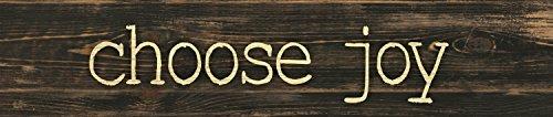 P. GRAHAM DUNN Choose Joy Typewriter Design 3 x 12 Inch Solid Pine Wood Farmhouse Stick Sign