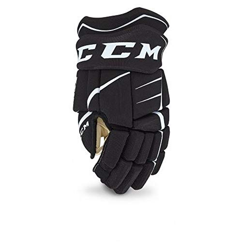 CCM Unisex JetSpeed JR Hockey Gloves, Junior, Black/White, 10