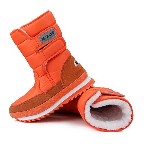 La Aardimi Neige Cheville Étanche Taille Talon Bottes Plat Plus Orange Femmes D'hiver rwU71Yqw