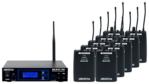 Camera Uhf Lavaliere Wireless Microphone - VOCOPRO SilentPA-Seminar10 16-Channel UHF Wireless Audio Broadcast System