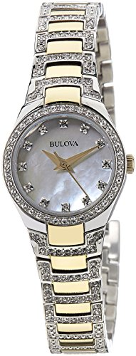 Bulova Women's 98L198 Analog Display Japanese Quartz Two Tone (Movement Two Tone Diamond)