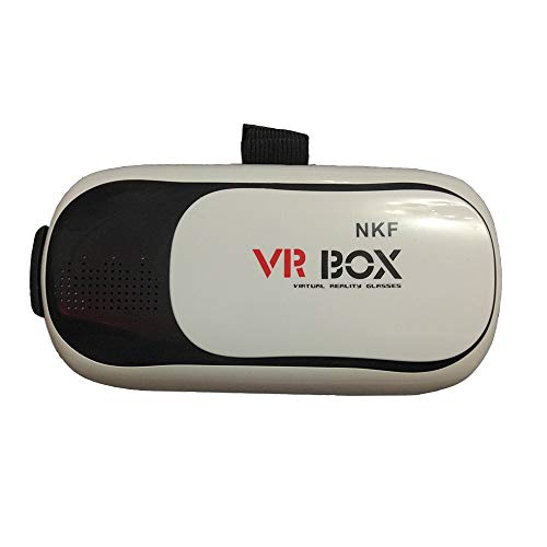 NKF Virtual Reality Glasses Headset 3D VR Glasses with Head-Mount Headband +Bluetooth 3.0 Remote Controller