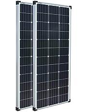 Enjoy Solar® Monokristallijn zonnepaneel, voor camper, tuinhuisjes, boot