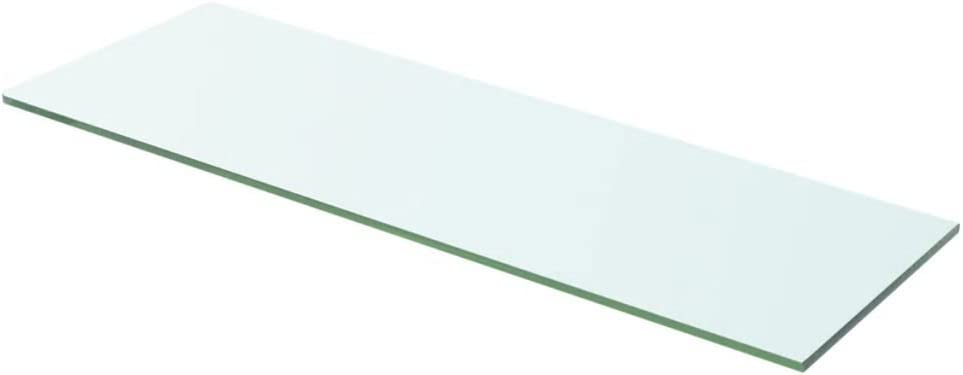 Regalboden Glas Transparent 60x12cm Glasboden Einlegeboden Glasablage Glasregal Ersatzteile Tidyard