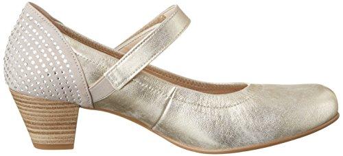Gabor Shoes Comfort, Zapatos de Tacón para Mujer Plateado (platino 63)
