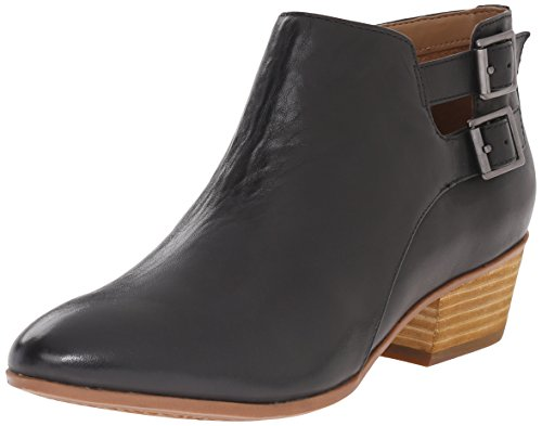 Clarks Women's Spye Astro Boot, Black Leather, 8 M US