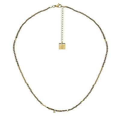 Zag Bijoux Collier Perles Kaki (doré)  Amazon.fr  Bijoux 28ea2512b29d