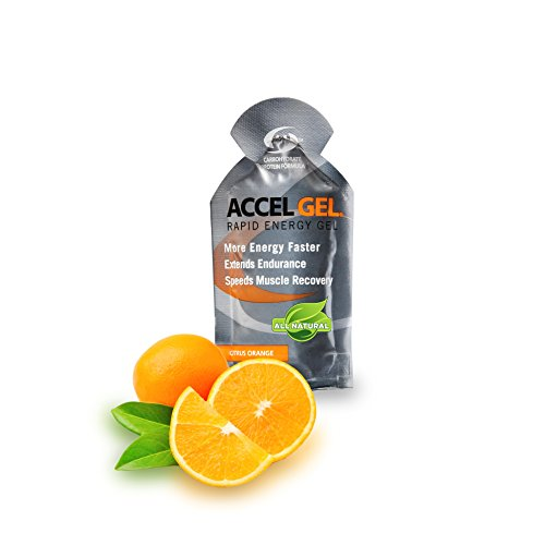 PacificHealth Accel Gel, All Natural Rapid Energy Gel – Box of 24, 1.3 Ounce Packets (Citrus Orange)